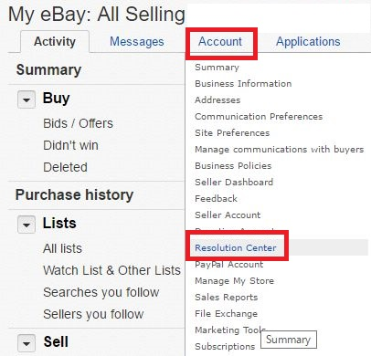 eBay【落札キャンセル方法】